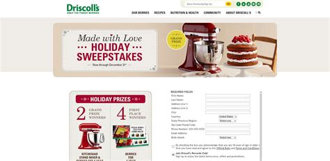 Sweepstakes Unlimited - driscoll s made with love sweepstakes