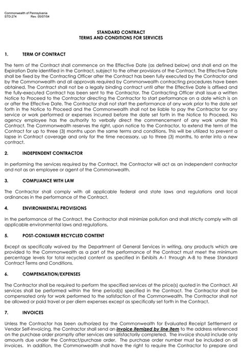 terms and conditions template 28 contract terms and conditions template terms and