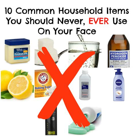 household items 10 common household items you should never use on your face