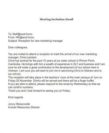 Business Letter Sle Meeting Request Email Format For Meeting Invitation All The Best