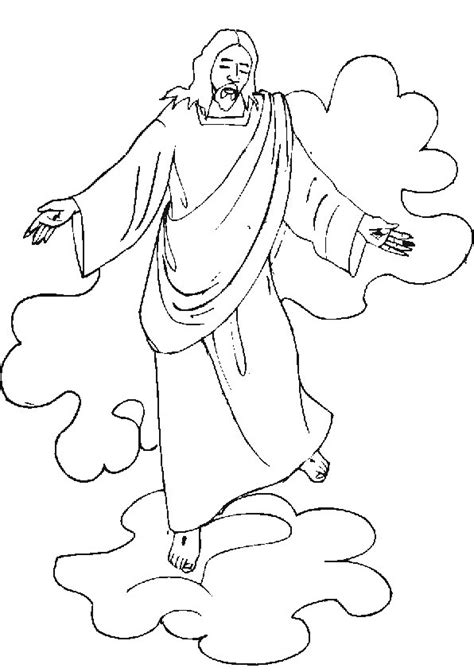 coloring pages ascension of jesus jesus ascending to heaven coloring page driverlayer