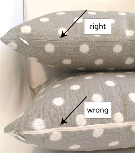 tutorial for a pillow cover with a invisible zipper