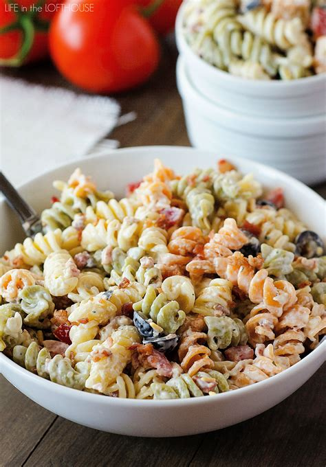 pasta salad with bacon bacon ranch pasta salad life in the lofthouse
