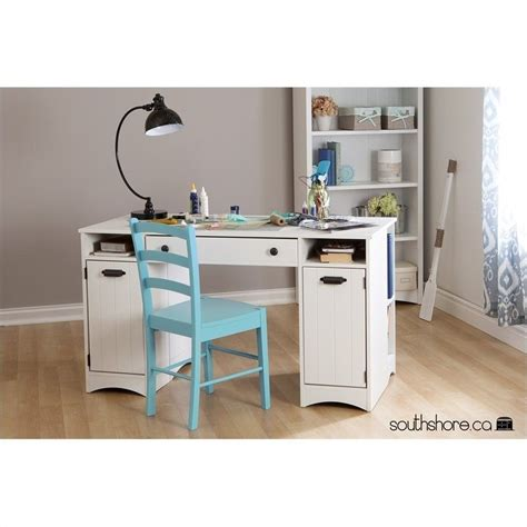 south shore sewing craft table south shore artwork craft table with storage in white
