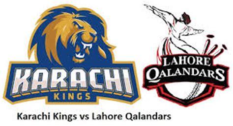 lahore qalandars v karachi kings psl 2017 live match details