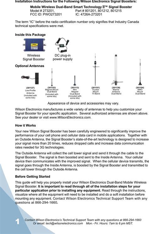 wireless dual band bi directional amplifier user manual users guide wilson electronics