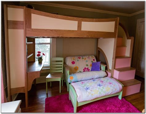 girl bunk beds with stairs bedroom bunk beds with stairs and desk for girls cottage