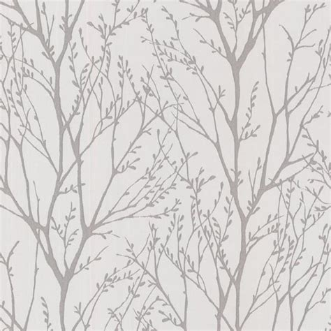 grey wallpaper with trees brewster home fashions delamere pewter tree branches