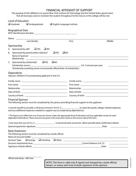 template for an affidavit 48 sle affidavit forms templates affidavit of