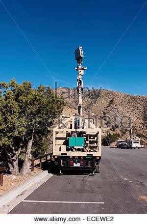 border patrol truck with ground scanning radar and cameras