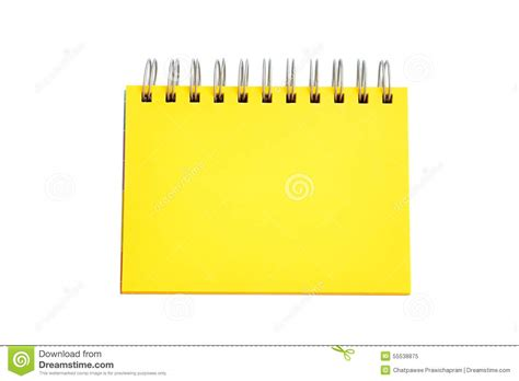 Softcase Notebook 10 Yellow Sign yellow page of notebook stock image image of isolated