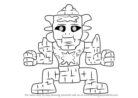 terraria coloring pages step by step how to draw golem from terraria