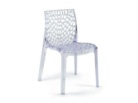 sedie plastica trasparenti sedia in policarbonato trasparente impilabile idfdesign