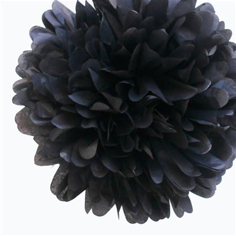 Cake Vase Set Black Tissue Pom Pom Large Diy Wedding Shop