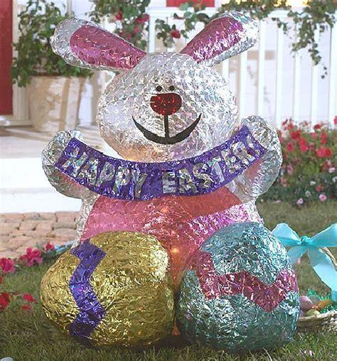 easter rabbit bunny holographic inflatable yard decor ebay
