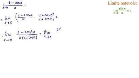lim x tende a 0 risolvi usando i limiti notevoli lim 1 cos x x per