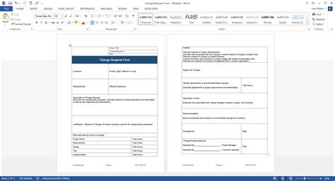 change management form template pacq co