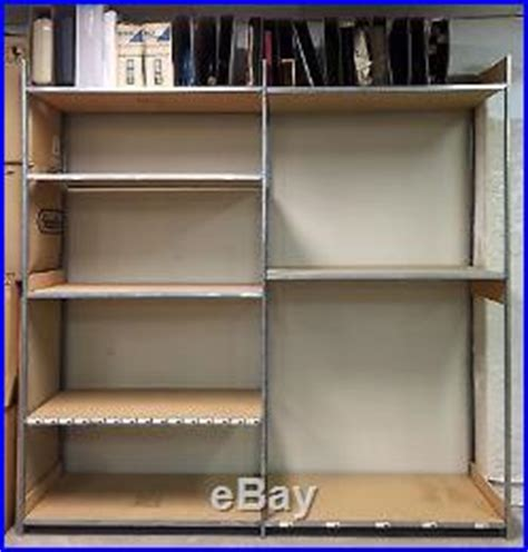 large adjustable metal wood storage backstock shelves