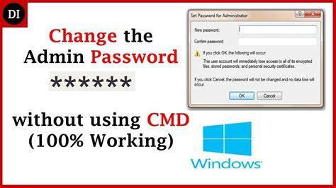 software reset admin password windows 7 how to change administrator password on windows 10 8 7