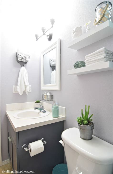 light bright guest bathroom makeover  reveal diy