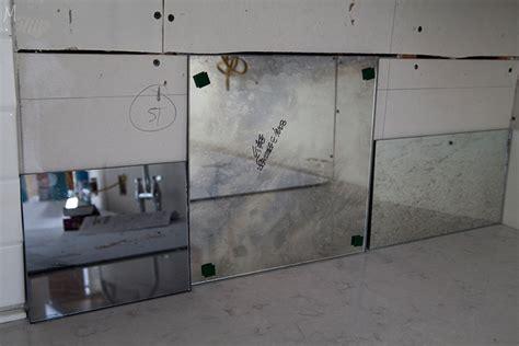 mirrored backsplash in the kitchen the makerista the kitchen flooring appliances the makerista