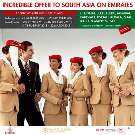 emirates promotion 2017 emirates promo south asia special atom travel