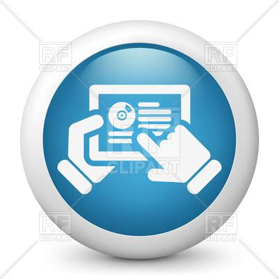 Website Clipart by Software Or Website On Tablet Icon Vector