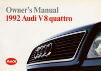 online car repair manuals free 1992 audi quattro electronic toll collection audi owner s manual audi v8 quattro 1992 bentley publishers repair manuals and automotive