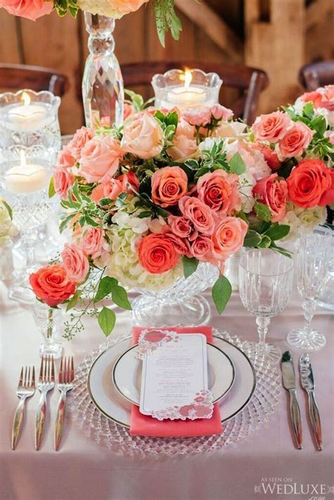 coral wedding centerpiece ideas trendy find this pin and