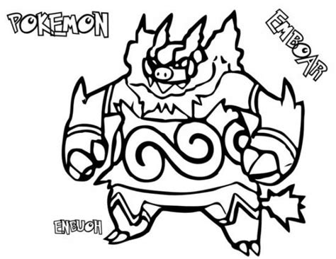 pokemon coloring pages pignite pokemon emboar coloring pages pokemon coloring pages