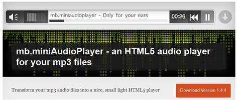 design html audio player free wordpress plugin mb miniaudioplayer an html5 audio