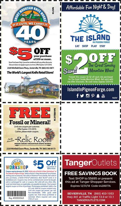 Pigeon Forge Cabin Coupons by Discount Coupons For The Smoky Mountains Pigeon Forge