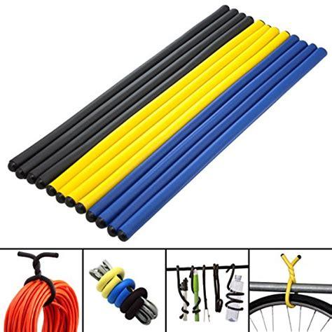 Gelang 4 Wrap Metal Coated Hook 12 magic 14 quot twist ties foam coated storage wrap hook hang bicycle tool business