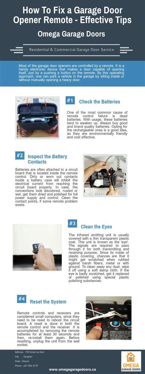 how to fix a garage door opener remote effective by