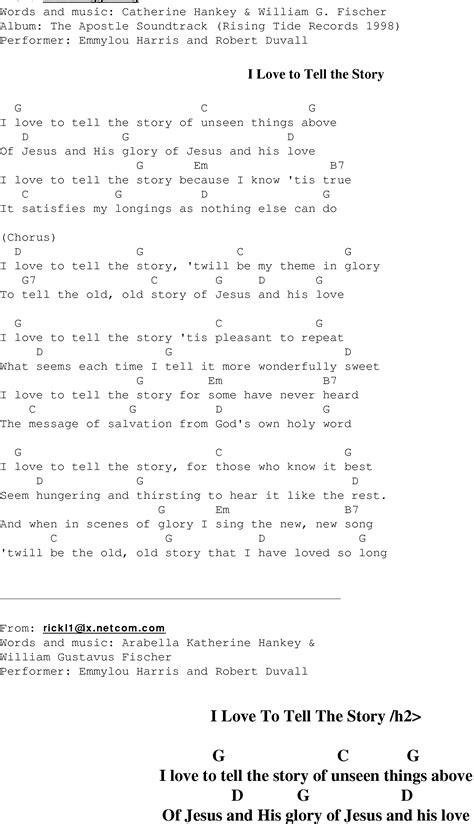I To Tell The i to tell the story christian gospel song lyrics