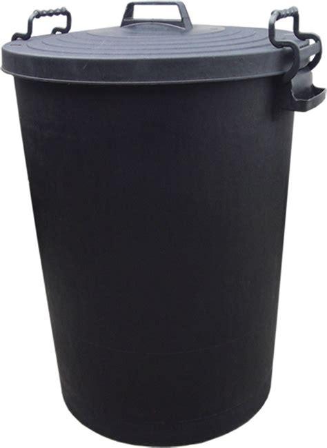 With Bins outdoor black refuse dust bin waste plastic bins heavy duty indoor garbage bin ebay
