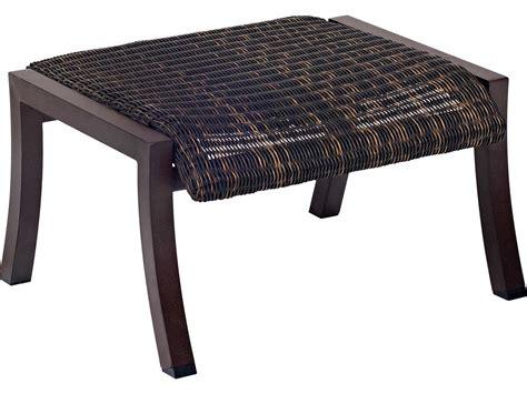woven ottoman round woodard cortland woven round weave wicker ottoman 5v0486