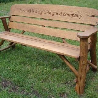 outdoor wooden memorial benches rustic outdoor wooden benches rustic oak garden