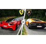 Ferrari 488 GTB Vs Lamborghini Huracan SOUND Exhaust POV