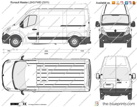 renault master lh fwd vector drawing