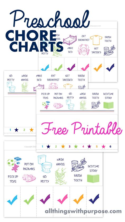 Preschool Chore Charts On Pinterest Preschool Chores Chore Chart Toddler And Picture Chore Charts Preschool Chore Chart Template