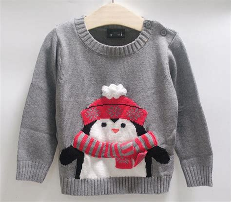 Handmade Sweaters For Children - children sweaters penguin design clothing 2 7 years