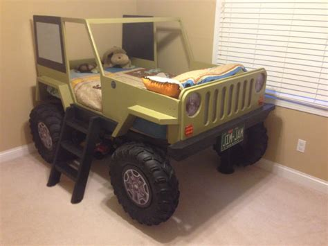 pink jeep bed jeep bed plans twin size car bed by jeepbed on etsy 20