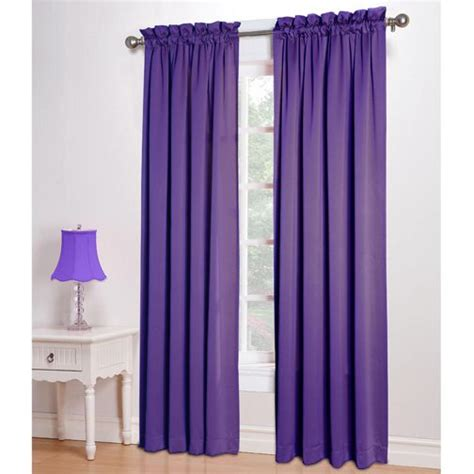 Purple Room Darkening Curtains