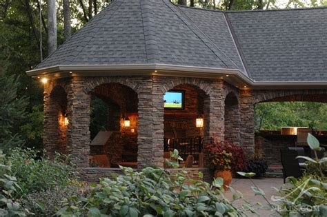 Backyard Entertainment Designs by Outdoor Entertainment Area Maineville Oh