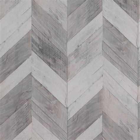Wooden Blinds Home Depot Wood Weathered Herringbone Grey And Black Wallpaper R4661