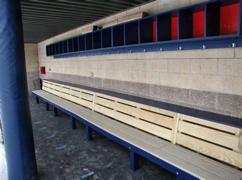 baseball dugout benches rizzo bench