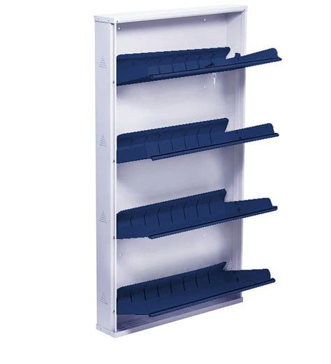 Shoe Rack Attached To Wall by Space Saving Wall Mounted Four Shelf Jumbo Shoe Rack In
