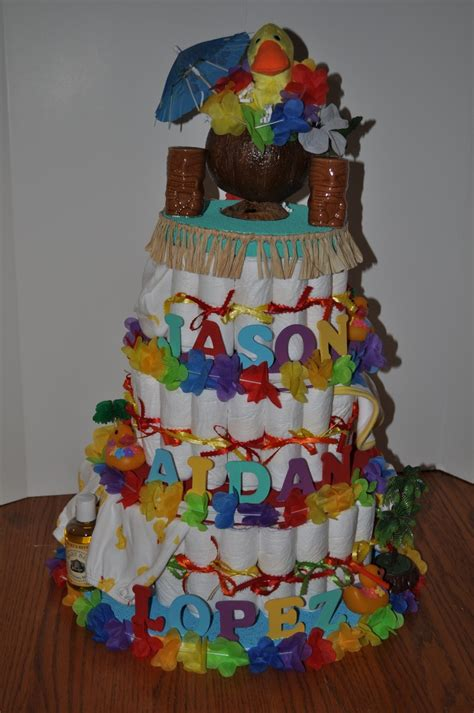 Luau Baby Shower Cakes by Luau Ducky Cake My Cakes
