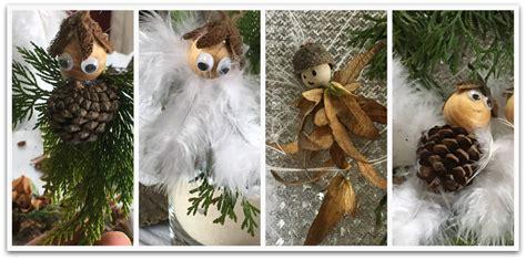 Basteln Mit Naturmaterialien Weihnachten by Aus Naturmaterialien Und Federn Niedliche Engel Basteln